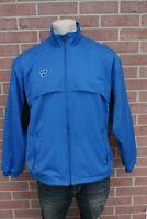 Mens NIKE Team Full Zip Blue Jacket Windbreaker Size Medium