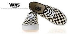Vans Authentic Golden Coast Checkerboard size 8.5  limited black white