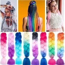 79 Colors 3 Bundles Rainbow Kanelon Jumbo Braiding Hair Extensions Box Braids UK