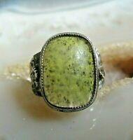 nativer kinder? ring sterling silber mit olivin und federn 16 mm