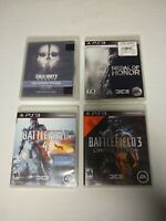 Lot of 4 PlayStation PS3 Games Call of Duty, Battlefield 3 & 4, Medal of Honor