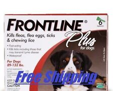 Frontline Plus Flea & Tick Control For Dogs & Pups 89-132 lbs Best Value 6-pack