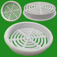 4x Roof Soffit Round Air Vents Eaves 65mm Grille 60mm Hole Push Fit Ventilation