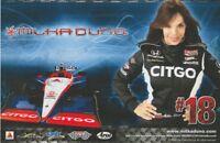 2010 Milka Duno Citgo Honda Dallara Indy Car postcard