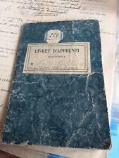 LIVRET D'ENFANT ET D'APPRENTI 1906 TIGNIEU MEYZIEU