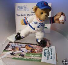 "Cherished Teddies ""Ron Santo Chicago Cubs Exclusive Ltd Edition"" 905542 Mint"