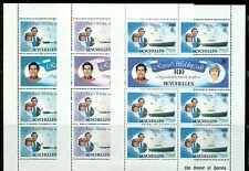 SEYCHELLES Sc469-74 SG505a,507a,509b MNH 1981 Charles & Diana set of 3 MS SCV$20