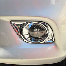 Chrome Front Fog Light Cover Bumper Lamp Bezel Pair Fit Nissan Versa 2010-2013