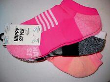 Happy Style Socks Sport Low Cut Socks 3 Pair Shoe Size 5.5-9.5 NEW #31