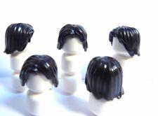 Lego 5 Hair Wig For Girl Female Boy Man  Minifigure Figure Black Shoulder Length