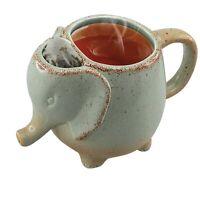 Animal Shaped Tea Mugs - Ceramic Elephant Tea Cup with Built In Tea Bag Holder
