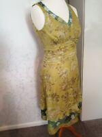 Fenn Wright Manson Silk Dress UK Size 10