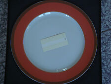 Grande assiette présentation 31cm Rosenthal VERSACE Méandre orange NEUVE 179€
