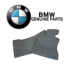 For BMW E43 328Ci 330i 330Xi Set of 2 Front Rubber Mats All Weather Gray OES