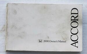 2000 Honda Accord Owners Manual OEM ORIGINAL