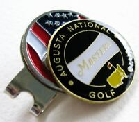 2018 Augusta Georgia MASTERS BLACK BALL MARKER with a USA FLAG HAT CLIP