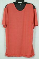 Men's Lululemon XL Short Sleeve Tech Shirt Orange Gray Colorblock Running Active