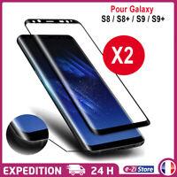 Vitre verre trempé film protection écran 3D Intégrale Total Samsung S8/S9/S10 +