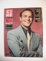 Ciné Revue N°4 Janvier 1956 Marlon Brando Gregory Peck