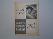 advertising Pubblicità 1950 MATERASSO PIRELLI