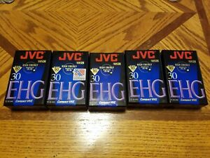 5 - JVC TC-30 Compact VHS-C Camcorder Tapes 90 Minute Hi-Fi EHG New Sealed