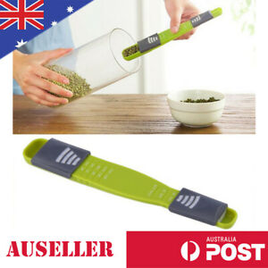 Green Adjustable Measuring Spoon Kitchen Measures Gram and Millilitres Scale DIY