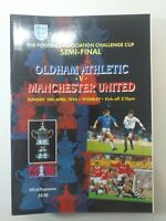 1994 FA CUP SEMI FINAL PROGRAMME - OLDHAM ATHLETIC V MANCHESTER UNITED