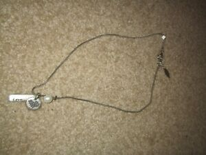 Silver Necklace from Cold water creek with 3 charms NEW
