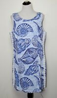Lilly Pulitzer Mila Shift Dress Size 16 Blue Peri Pop Up Stuffed Shells NWT