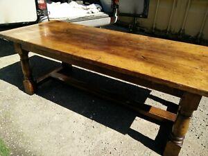 Solid Oak Handmade Refectory Farmhouse Dining Table