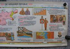 Wandbild Geschichtsfries Weimar 139x50 vintage no golden twenties wall chart ~65