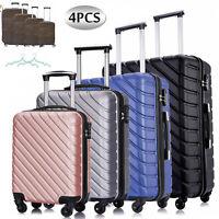 4 Pcs Travel Hardshell Luggage Set ABS Lightweight Suitcase 18'' 20'' 24'' 28''