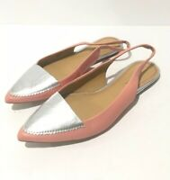 Anthropologie Pilcro and the Letterpress Size 8 Pointed Toe Slingback Flat Women