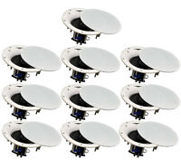 """10 Pack - TDX 6.5"""" 2-Way Ceiling Wall Home Theater Speaker Flush Mount White New"""