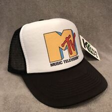 MTV Music Television Trucker Hat Old Logo! Vintage Style Snapback Cap! 2209