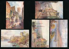 TUCKS AQUARETTE 6265 DARTMOUTH DEVON ARTIST WIMBUSH 5 CARDS UNUSED