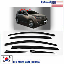 A754 SMOKED DOOR WINDOW VENT VISOR SUN DEFLECTOR (6 PCS) TOYOTA RAV4 2013-2017