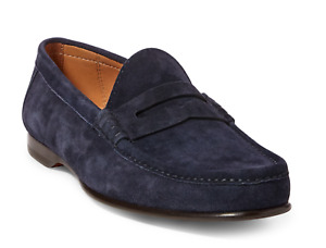 $895 Ralph Lauren Purple Label Mens Chalmers Suede Penny Loafer Driver Shoes NIB