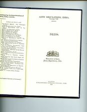 ARMY REGULATIONS (INDIA) 1913. VOLUME VII. DRESS. 1991 r/p #'s copy  HB VG