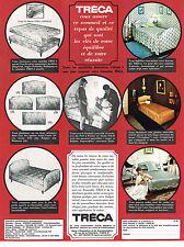 PUBLICITE ADVERTISING 094  1966  TRECA   lits matelas