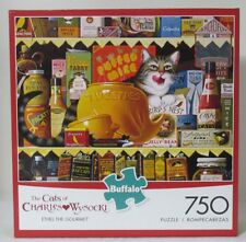 Buffalo Games 750 Piece Puzzle The Cats of Charles Wysocki ETHEL The GOURMET