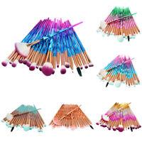 20pcs Pro Makeup Brushes Set Powder Blush Eye shadow Eyebrow Lip Brush Tool Char