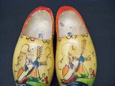 PAIR OF HANDPAINTED  WOODEN SHOES FROM HOLLAND