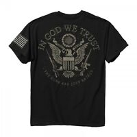 In God We Trust The Guns Are Just Backup USA American Patriotic Tee Shirt 2039