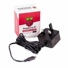 Raspberry Pi UK Plug Official USB-C Power Supply - Black