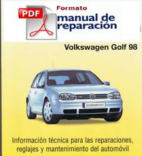 MANUAL DE REPARACION VOLKSWAGEN GOLF IV desde 98 GAS Y DIESEL, pdf
