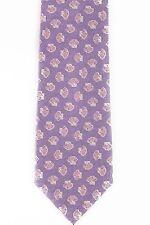 New $195 VALEXTRA by GIORGIO ARMANI Silk Tie Shell Violet Handmade in Italy