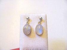 Mondstein blau Ohrhänger- Rainbow Moonstone Earrings 925 Silber E7566