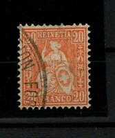 [P02] SWITZERLAND / 1881, SCOTT #64, USED, CV 155€