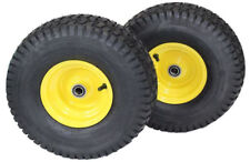 Set of 2 15x6.00-6 Tire & Wheel John Deere LT133 LA115 LA105 D100 D105 L110 116H